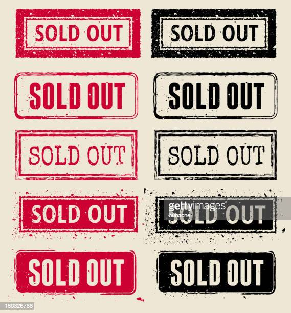 sold out vector rubber stamp collection - sold out stock illustrations