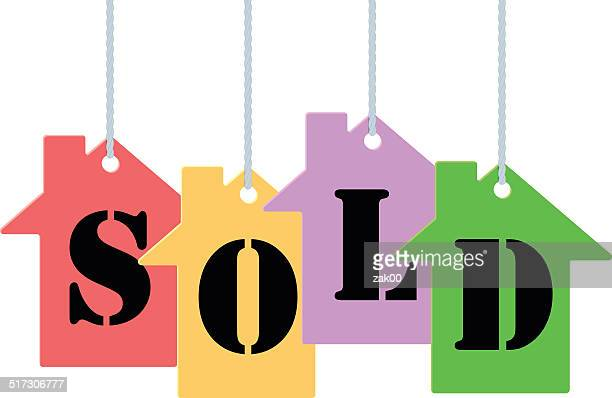 sold tags - buy single word stock illustrations, clip art, cartoons, & icons