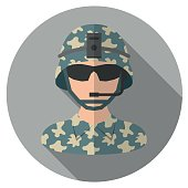 Soldier Flat Icon