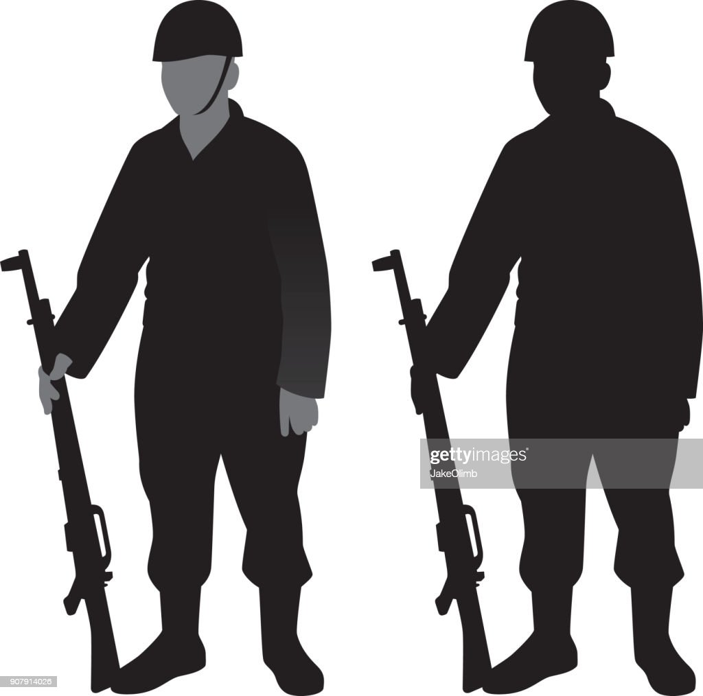 soldier silhouette vector art getty images