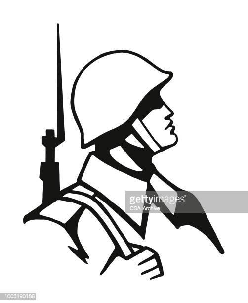 Army Helmet Premium Stock Illustrations Getty Images