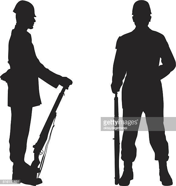 soldier - marines military stock illustrations, clip art, cartoons, & icons