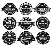 Solid Color Premium Quality Badges