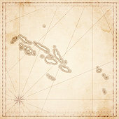 Solomon Islands map in retro vintage style - old textured paper