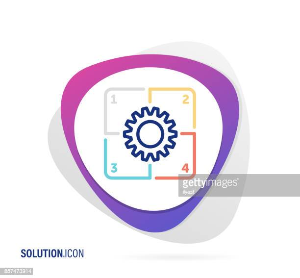 solution icon - coordination stock illustrations, clip art, cartoons, & icons