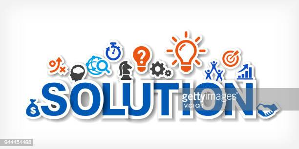 solution - illustration - mathematical formula stock illustrations