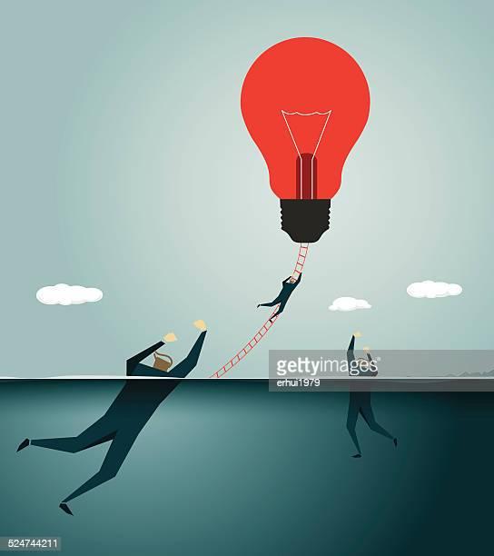 Solution, Rescue,Light Bulb,Symbolize,  Assistance, Survival,Inspiration, Urgency, Urgent