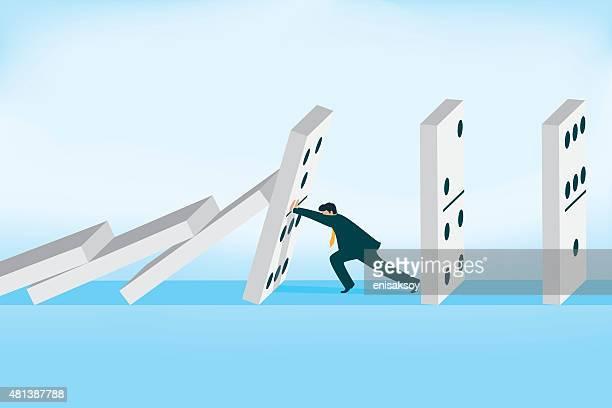 solution - domino effect stock illustrations