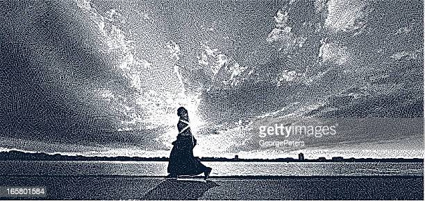 somali woman - north african ethnicity stock illustrations, clip art, cartoons, & icons