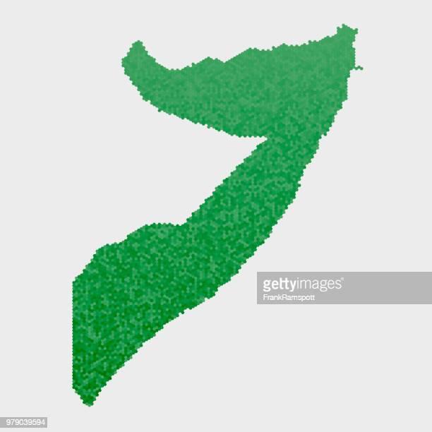 Somalia Land Map grünen Sechseck-Muster
