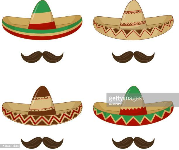 sombrero - mexican hat - hat stock illustrations