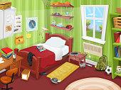 Some Kid Or Teenager Bedroom