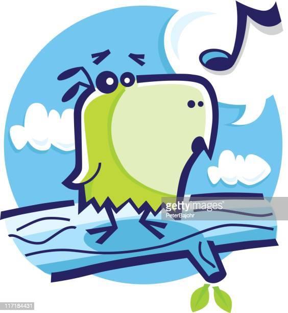 song bird - mockingbird stock illustrations, clip art, cartoons, & icons