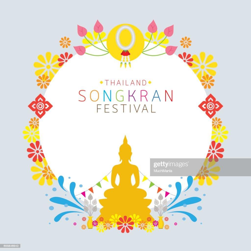 Songkran Festival, Buddhism, Frame