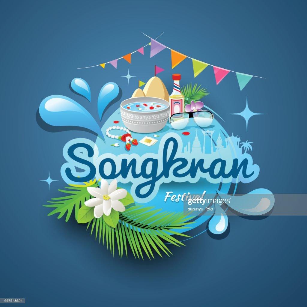 Songkran festival of Thailand design