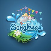Songkran festival of Thailand design