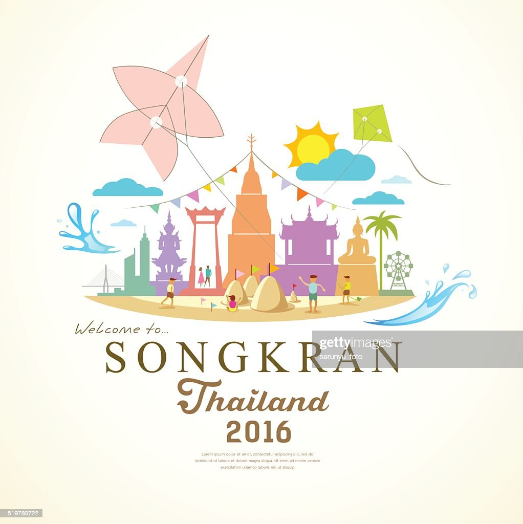Songkran Festival Period of April of Thailand