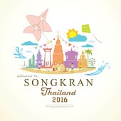 Songkran Festival Period of April of Thailand