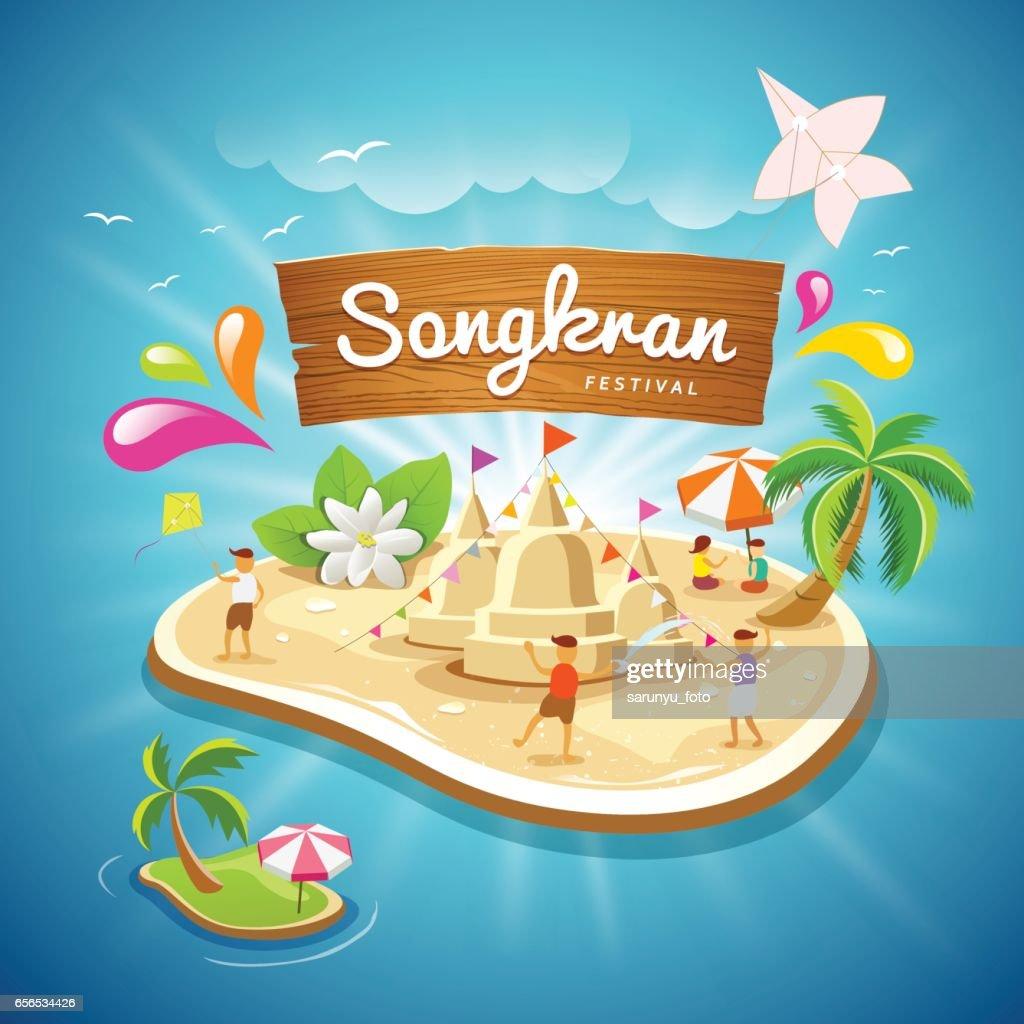 Songkran Festival summer in Thailand