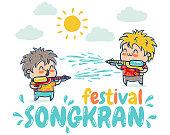 Songkran water festival in Thailand.