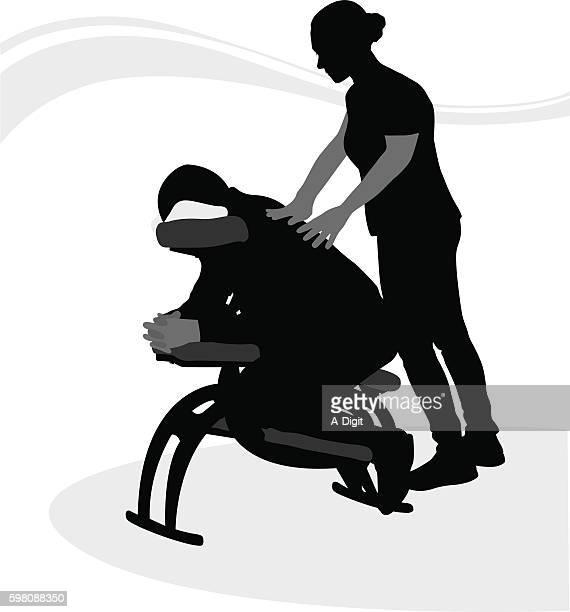 ilustrações de stock, clip art, desenhos animados e ícones de soothing massage after work - massagista