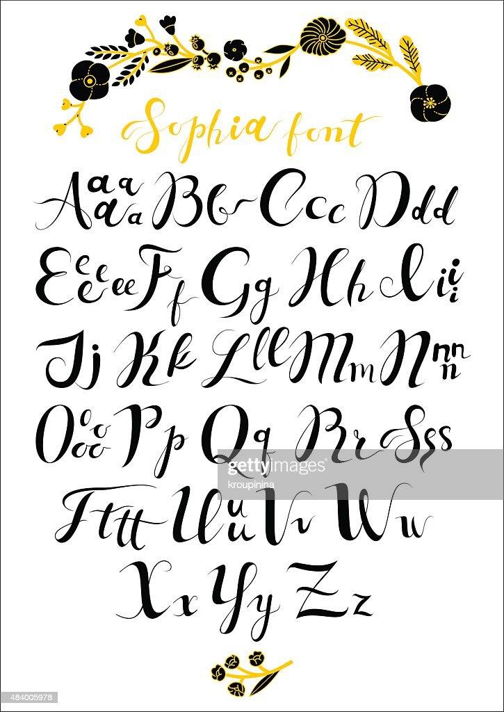 Sophia Calligraphic Font