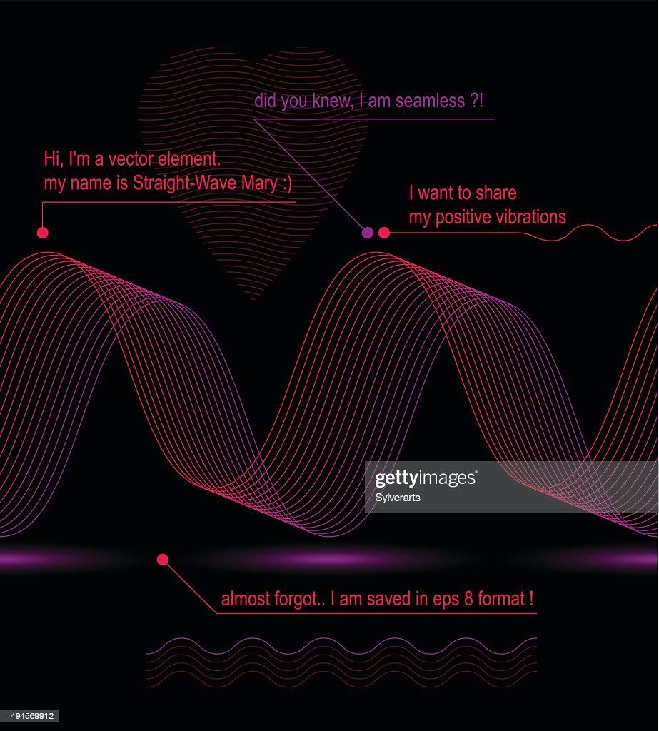 Sophisticated 3d curve decoration, romantic heart vector