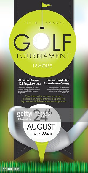 sophisticated golf tournament invitation design template