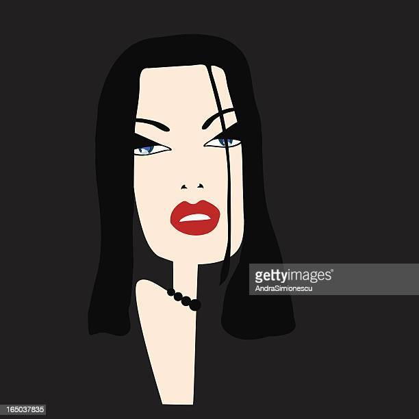 ilustrações de stock, clip art, desenhos animados e ícones de mulher sofisticada - mulher fatal