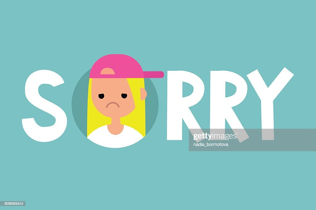Sorry illustrated sign