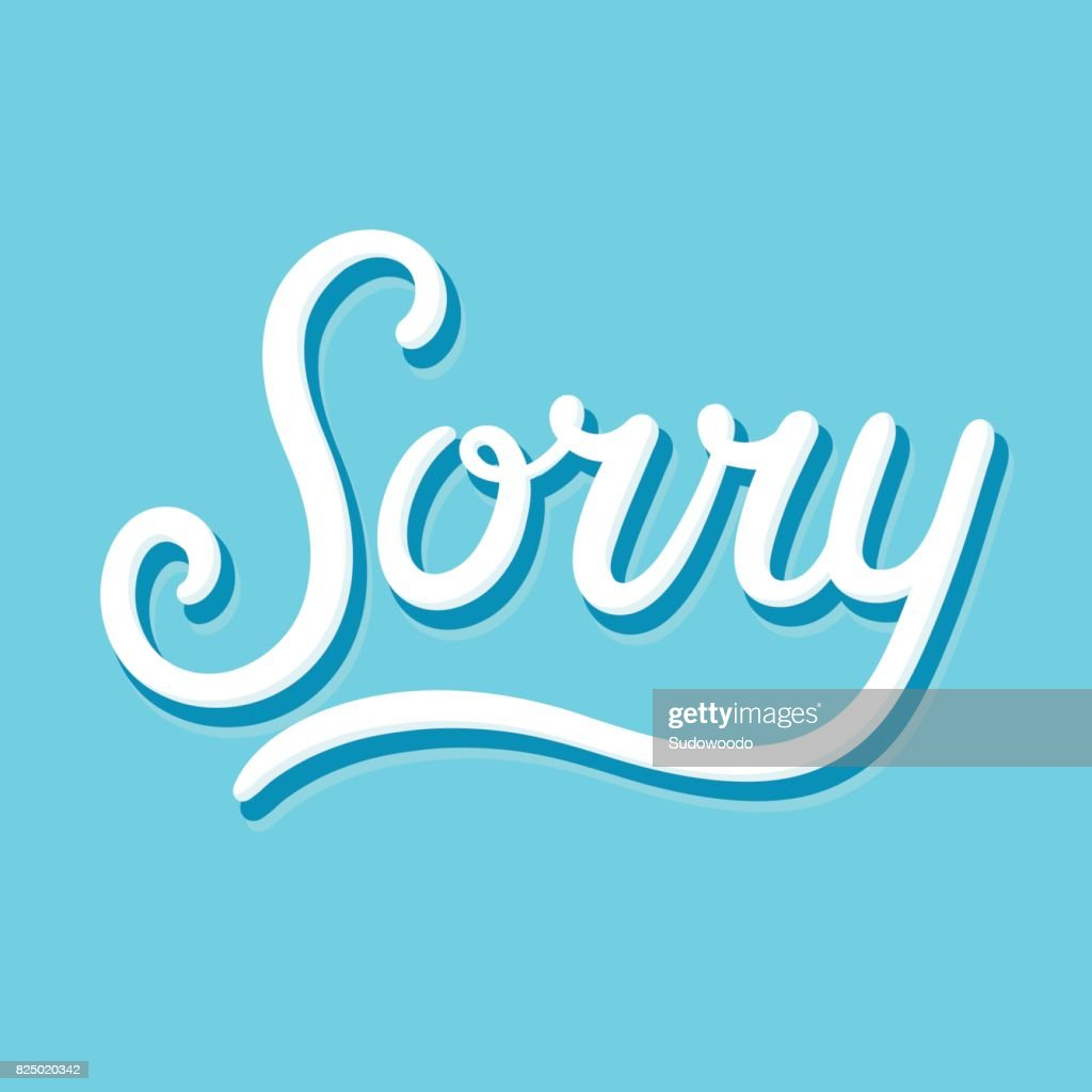 Sorry text lettering : stock illustration