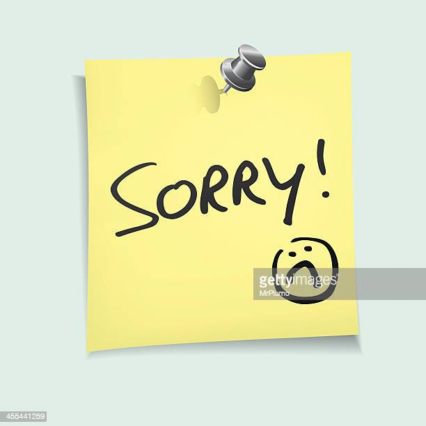 sorry - forgiveness stock illustrations, clip art, cartoons, & icons
