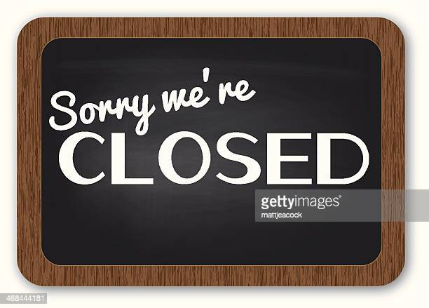 sorry we're closed sign - closed sign stock illustrations, clip art, cartoons, & icons