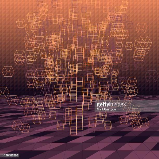 Seele abstrakte 3D-Vektor Cube