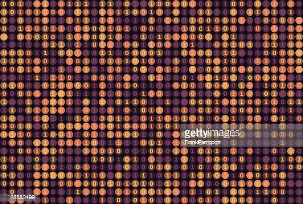 Seele binäre Zahlen Kreis Vektor-Muster Horizontal