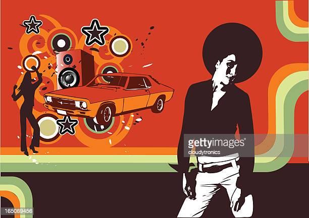 soul sista grunge - soul music stock illustrations