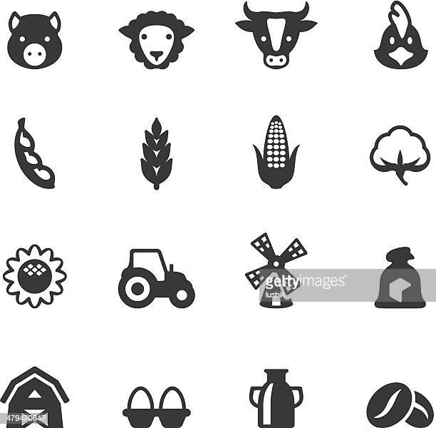 soulico - agriculture - corn stock illustrations, clip art, cartoons, & icons