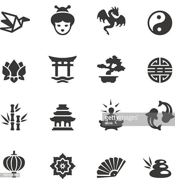 soulico - asian icons - dragon stock illustrations