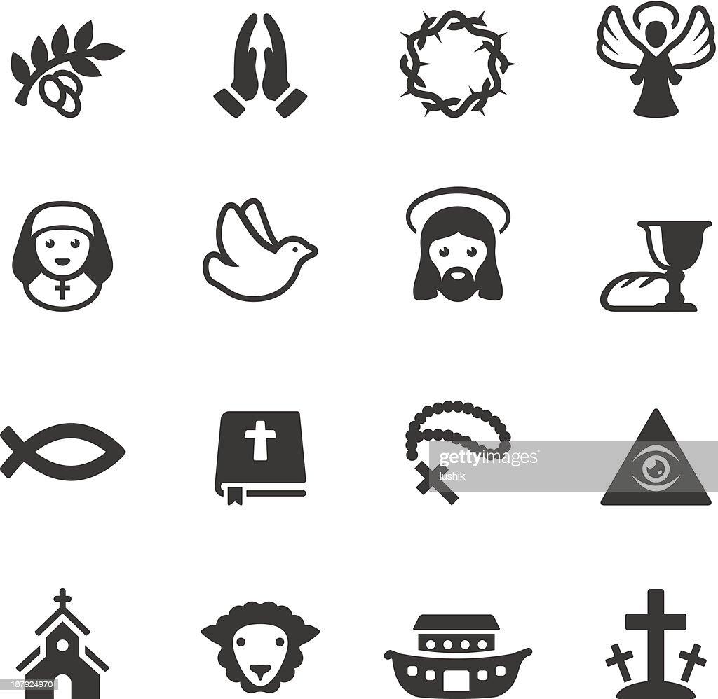 Soulico - Christianity icons : stock illustration