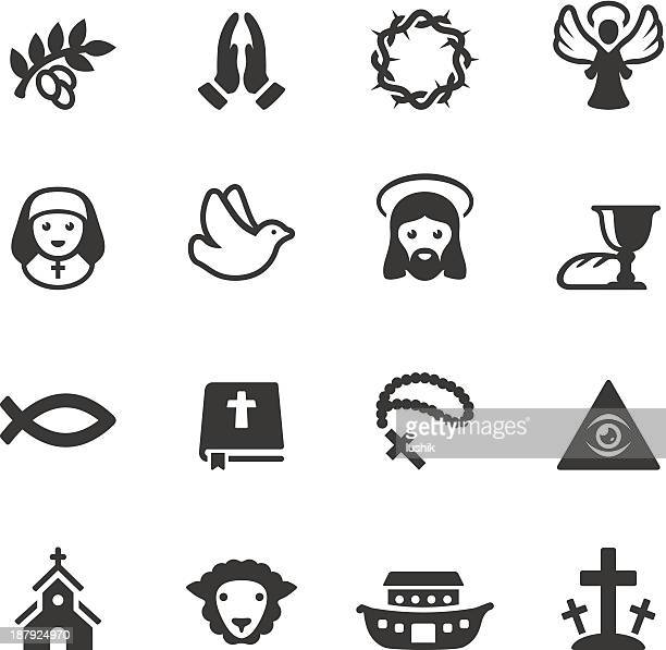 soulico - christianity icons - jesus christ stock illustrations, clip art, cartoons, & icons
