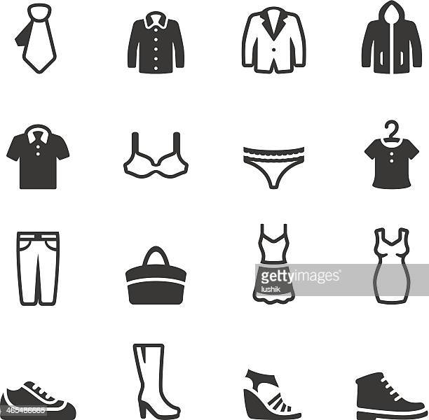 soulico - clothing icons - underwear stock illustrations, clip art, cartoons, & icons
