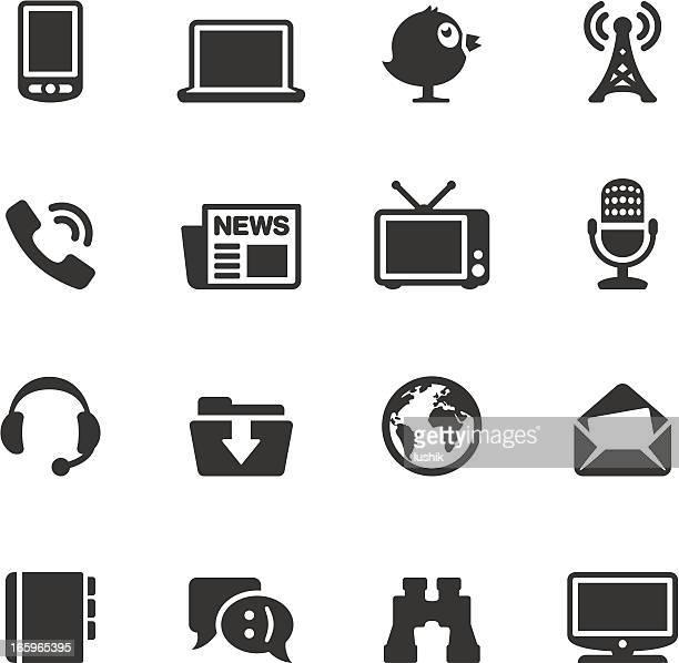 ilustraciones, imágenes clip art, dibujos animados e iconos de stock de soulico y medios de comunicación - archivos