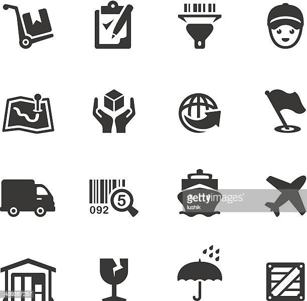 soulico - delivering icons - fragile sign stock illustrations