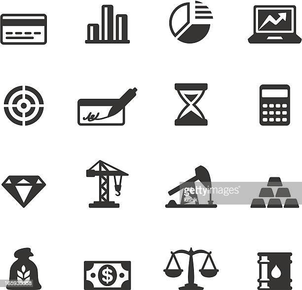 soulico - economics and investment vector icons - kitchen scale stock illustrations, clip art, cartoons, & icons