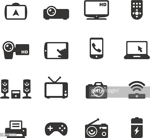 soulico - electronics and gadgets - projection equipment stock illustrations
