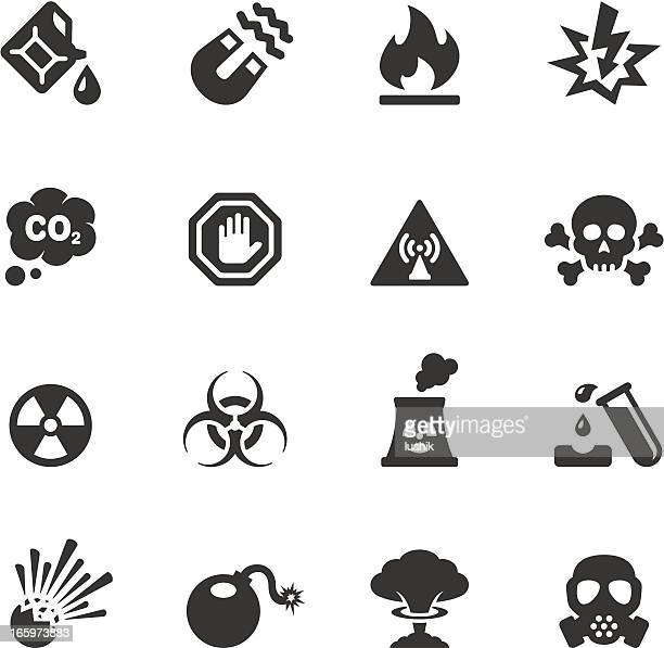 soulico - hazard and danger - radioactive contamination stock illustrations