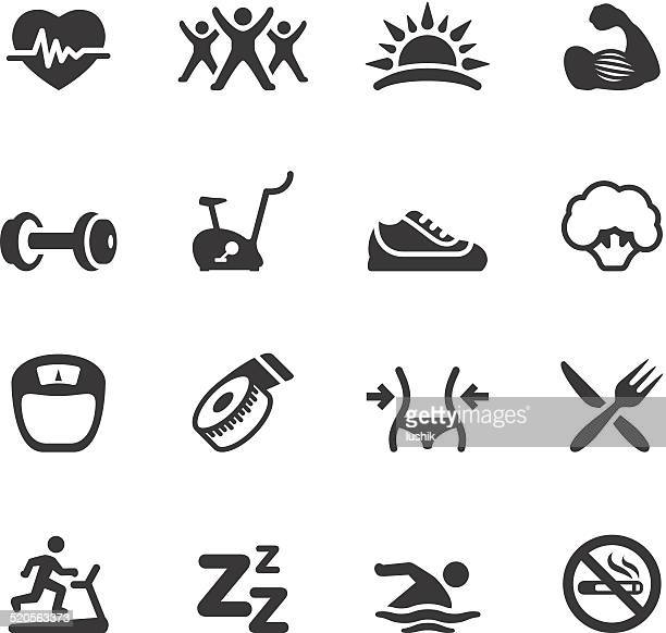 soulico icons - activity and sport - dieting stock illustrations, clip art, cartoons, & icons