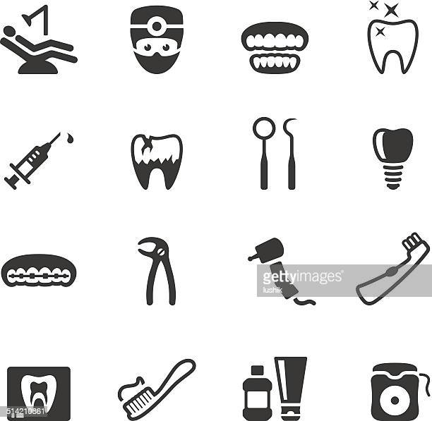 soulico icons - dental - dental floss stock illustrations