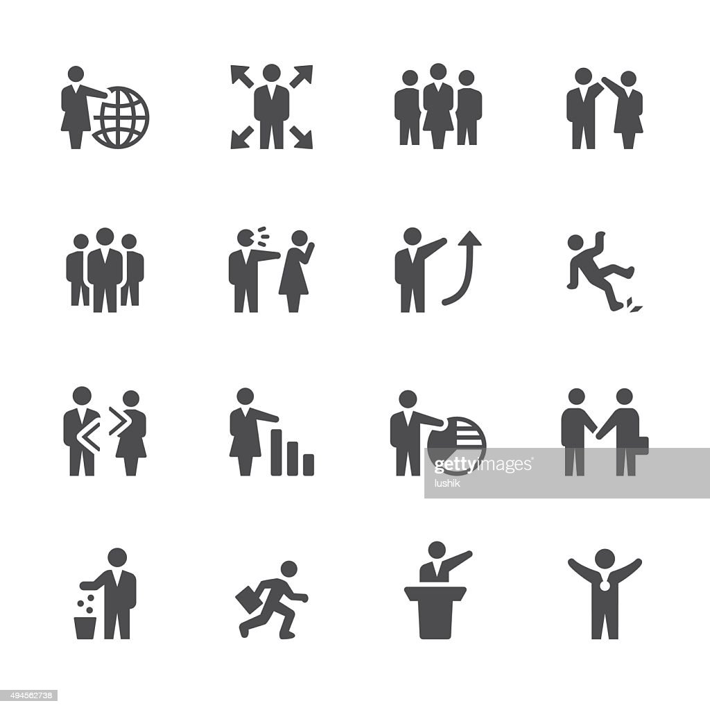 Soulico icons - Employment Issues : stock illustration