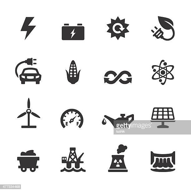 soulico icons - fuel and power generation - car battery stock illustrations, clip art, cartoons, & icons